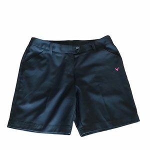 Callaway golf black trouser golf  shorts size 8